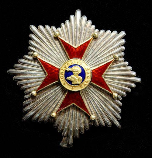 Broche de la Orden de San Gregorio Magno, en el grado de Gran Cruz concedida al Presidente Mora por el Papa Pío IX en 1854. Colección particular