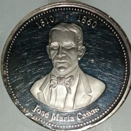 Medalla conmemorativa, Plata, José Maria Cañas 1810 – 1860