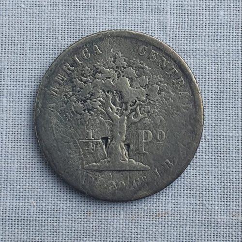 Moneda de la República de Costa Rica, Plata, 1/4 Peso, 1850