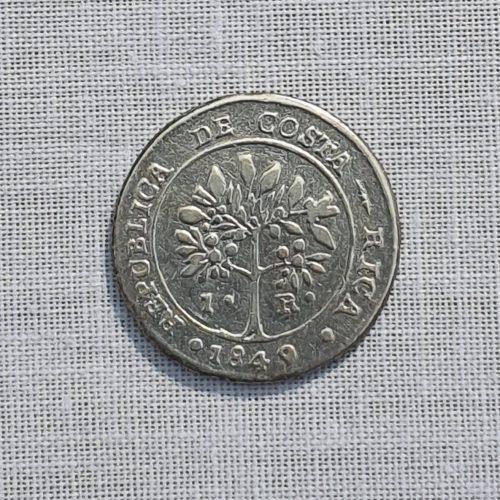 Moneda de la República de Costa Rica, Plata, Un real, 1849