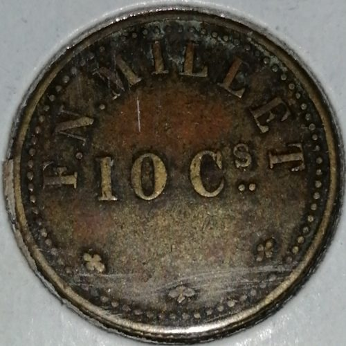 Boleto de café – Francisco Napoleón Millet,10 Centavos