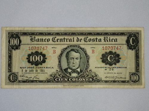 Billete de 100 colones, BCCR