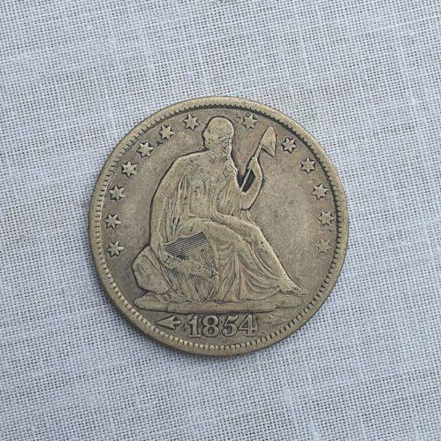 Moneda de los Estados Unidos de América, Plata, medio Dólar, 1854