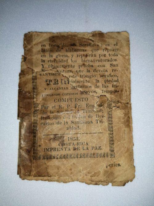 Trisagio Seráfico para venerar a la Santísima Trinidad, R. P. Fr. Eugenio de la Santísima Trinidad., Imprenta de La Paz, 1853