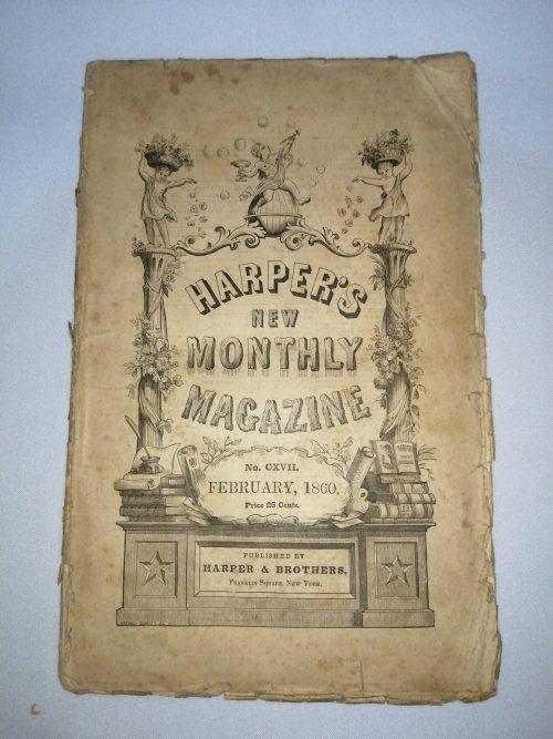 Revista Harpers New Monthly Magazine, febrero de 1860