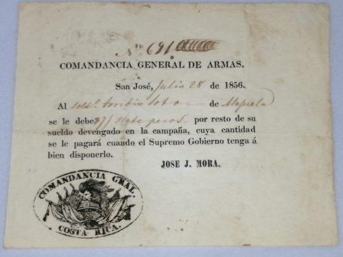 Vale de Guerra, 28 de Julio de 1856, N° 691