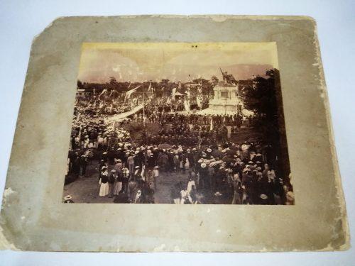 Fotografía correspondiente a la develación del Monumento Nacional, 15 de Setiembre de 1895