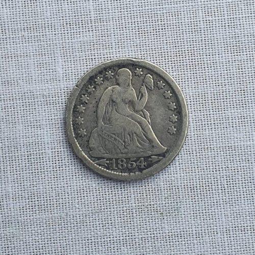 Moneda de los Estados Unidos de América, Plata, cinco centavos de Dólar, 1854